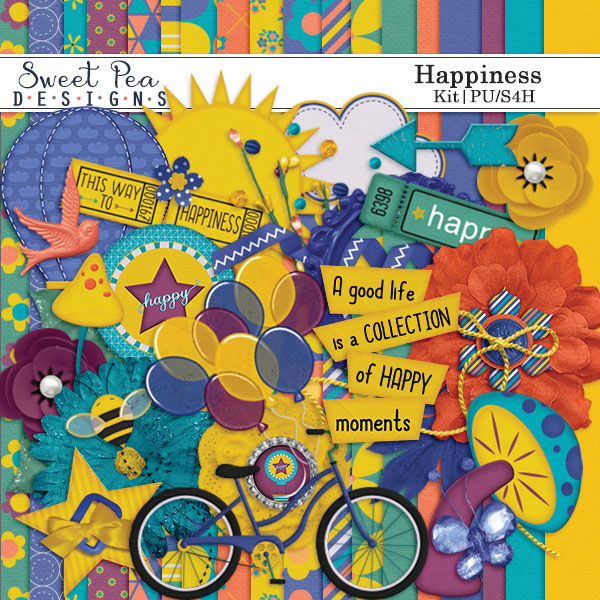 Happiness Kit - $3 49 : Sweet Pea Designs, Making Memories Last